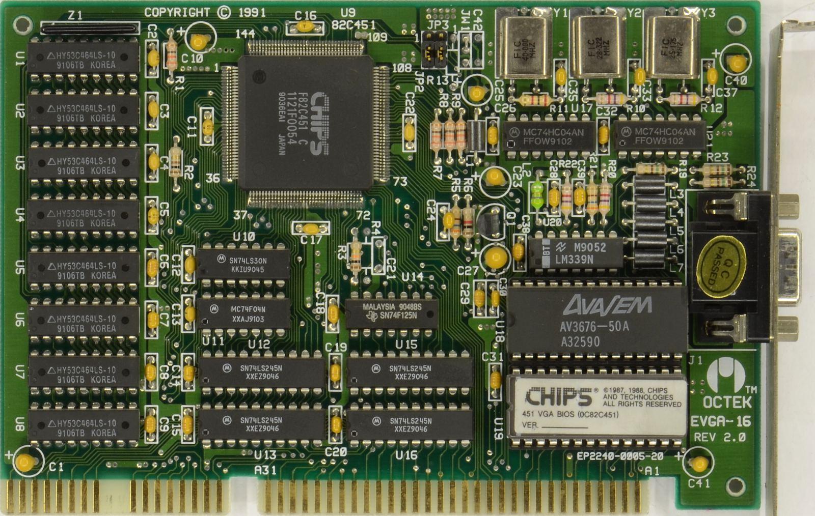 VGA Legacy MKIII - Chips&Technologies F82C451