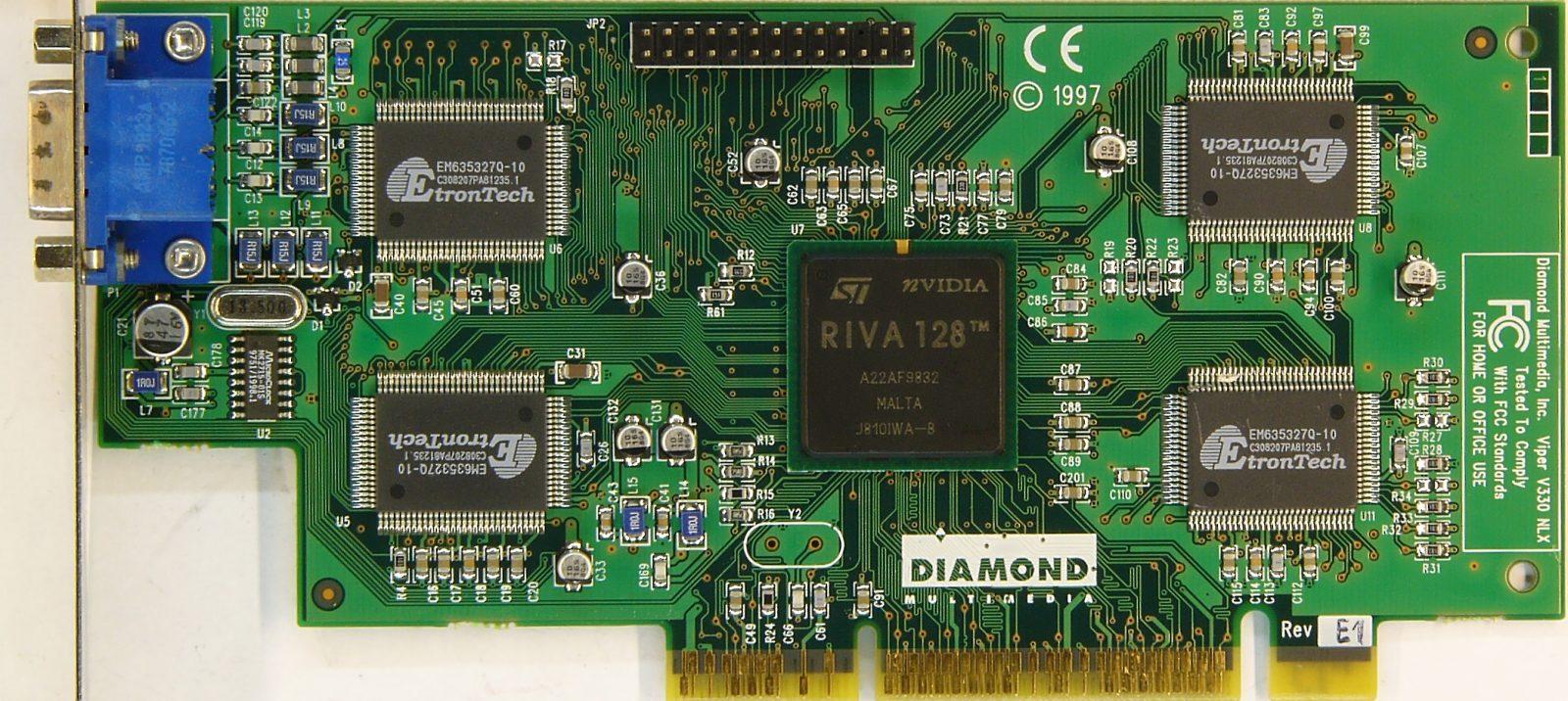 Diamond Viper V graphics card - Riva TNT - 8 MB Specs