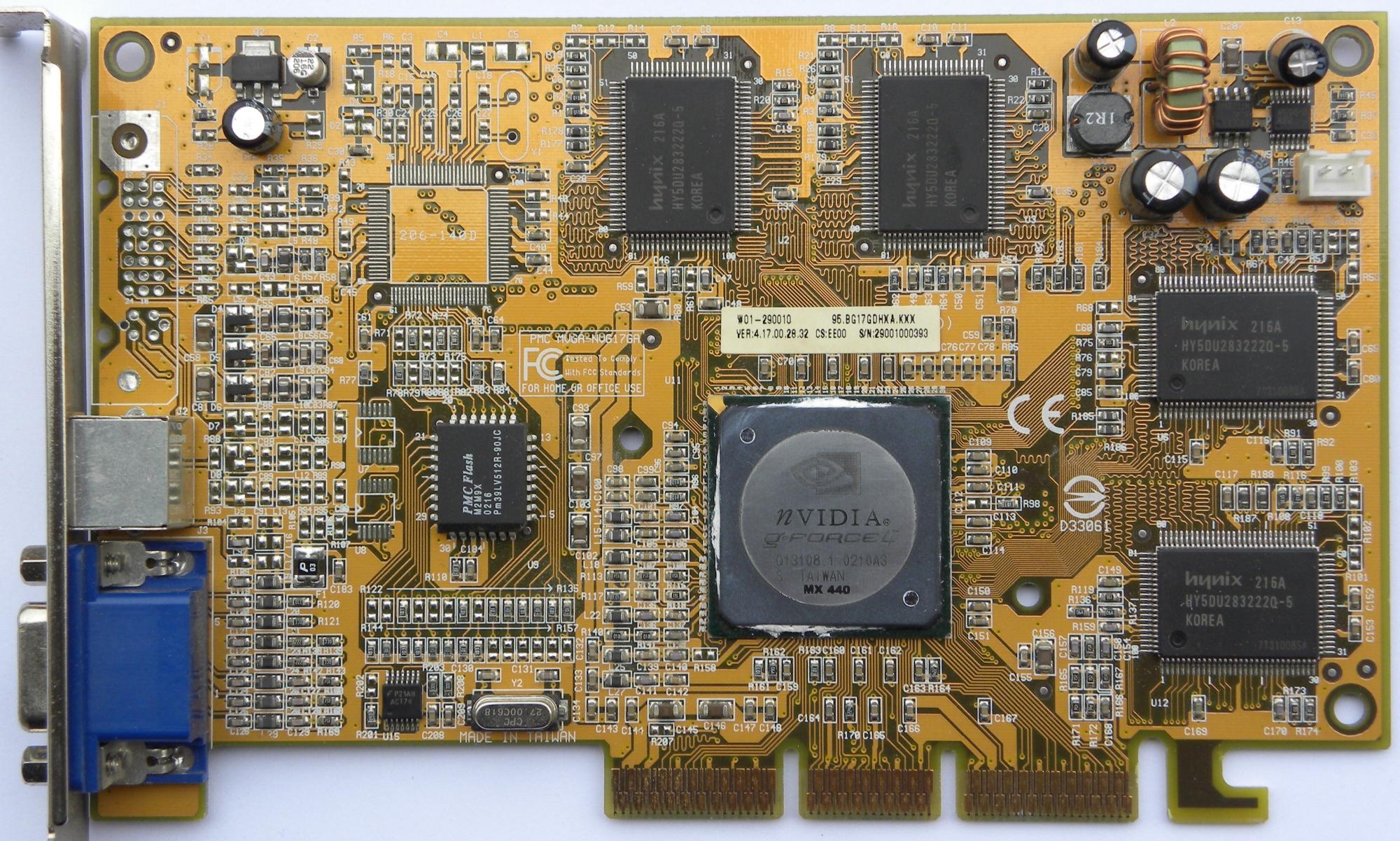 Nvidia geforce4 mx 440 agp 4x 64mb specification.