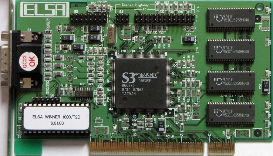 Скачать драйвер для видеокарты s3 trio64v2