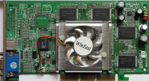 MANLI GeForce MX440 64MB AGP PC Graphics Card